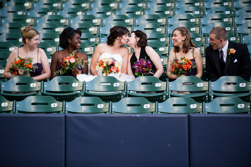 22 Milwaukee LGBT Wedding Photography   Miller Park   Nicole and Kristin