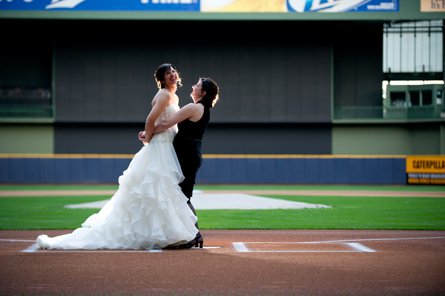 27 Milwaukee LGBT Wedding Photography   Miller Park   Nicole and Kristin