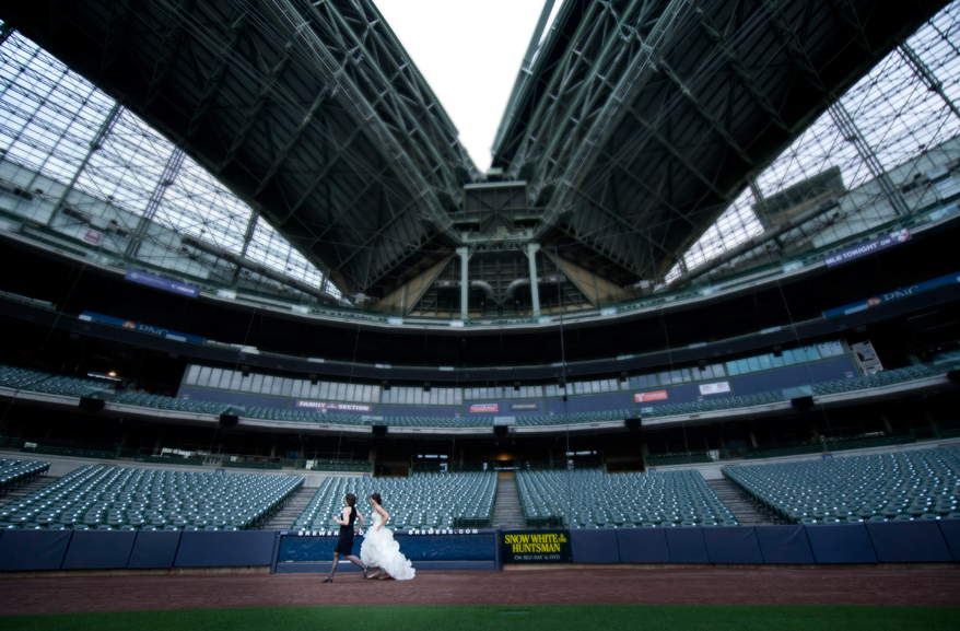 30 Milwaukee LGBT Wedding Photography   Miller Park   Nicole and Kristin