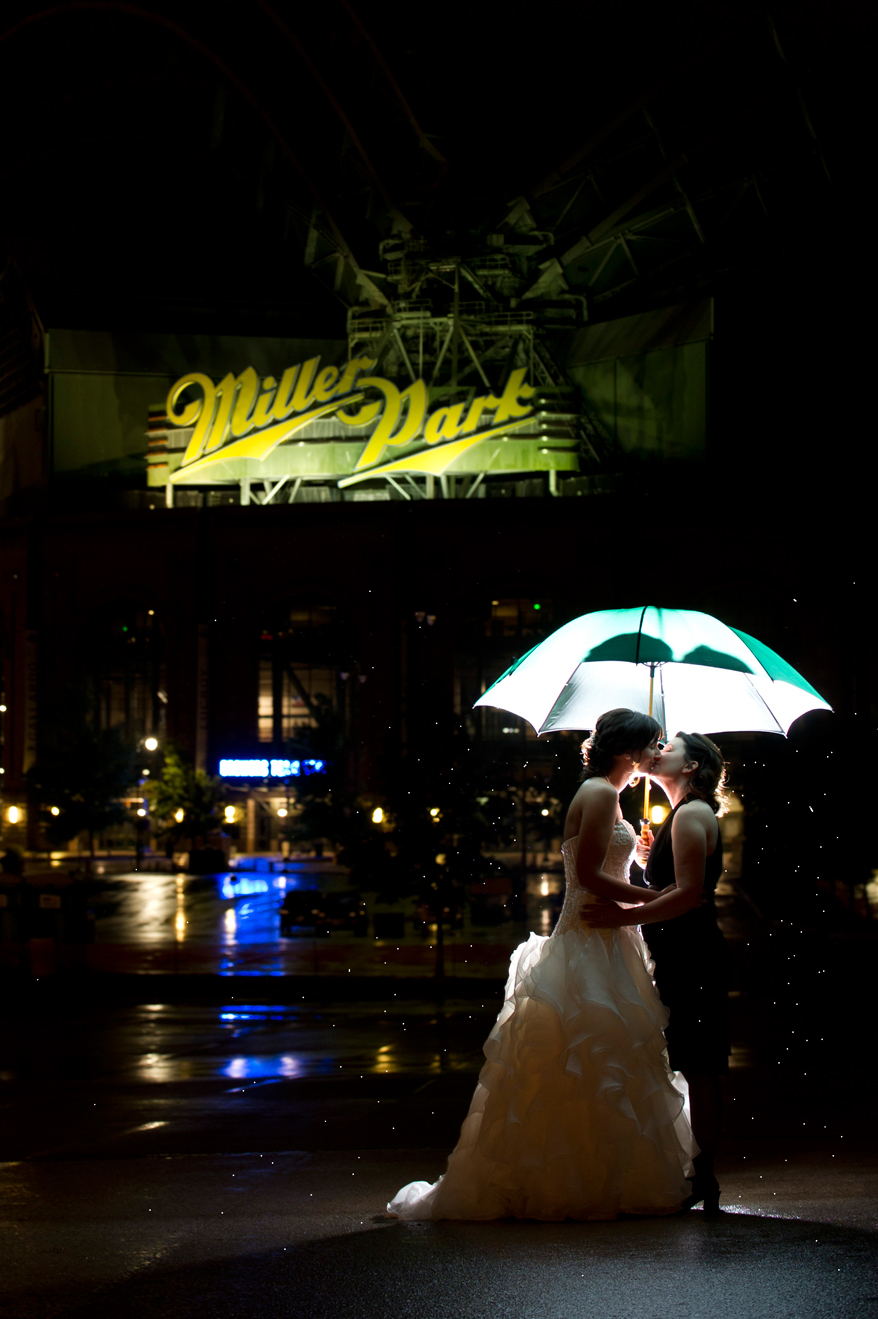 49 Milwaukee LGBT Wedding Photography   Miller Park   Nicole and Kristin