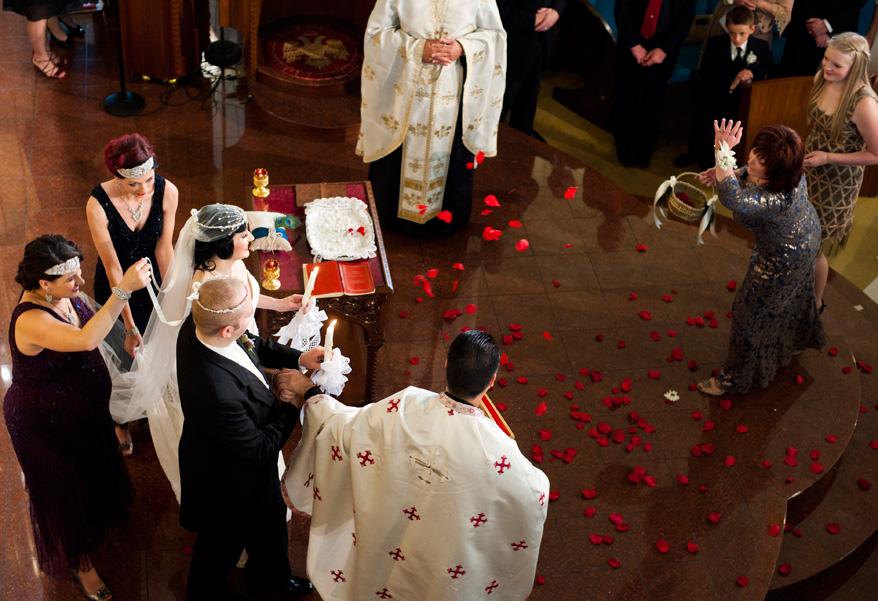192 Greek Orthodox Wedding Milwaukee Hilton Vegan Non Traditional Gatsby