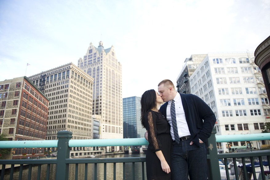 1113 Engagement Photos Milwaukee   Lakefront Brewery and River   Shannon and John