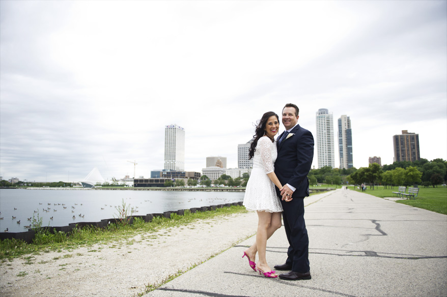 231 Milwaukee Small Lake Front Park Wedding   Non Traditional   Rose and Mike