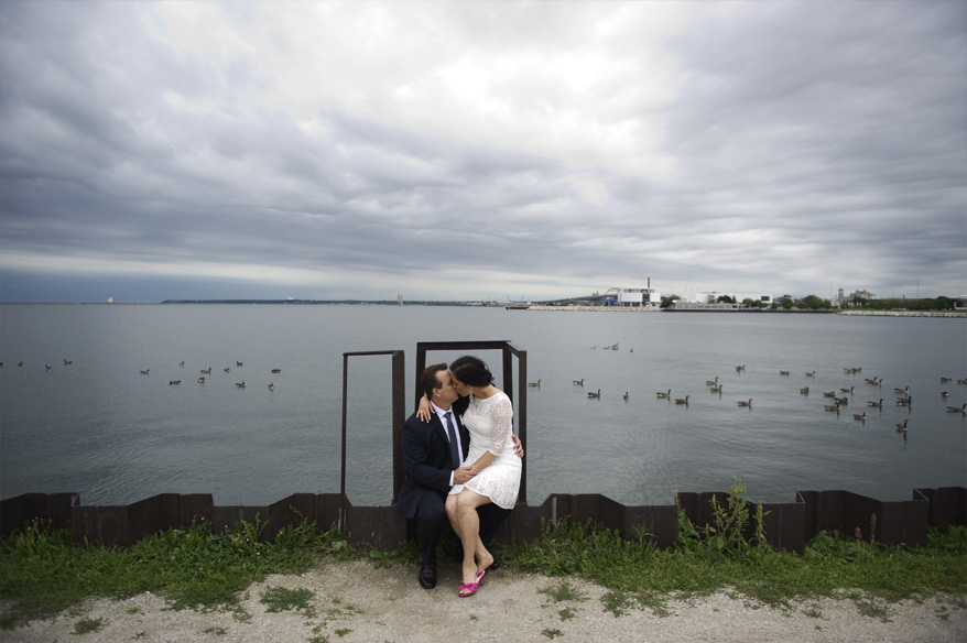 251 Milwaukee Small Lake Front Park Wedding   Non Traditional   Rose and Mike