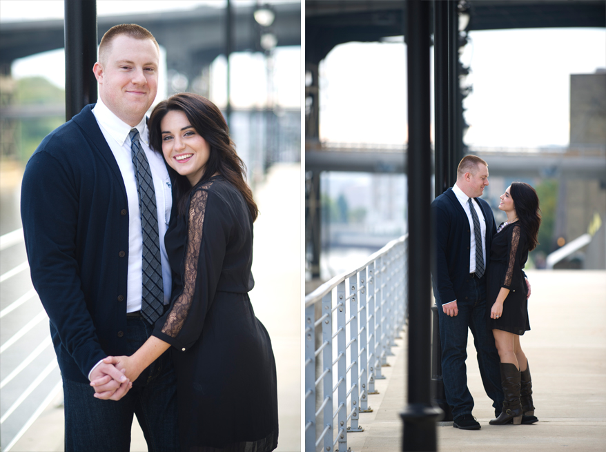 327 Engagement Photos Milwaukee   Lakefront Brewery and River   Shannon and John