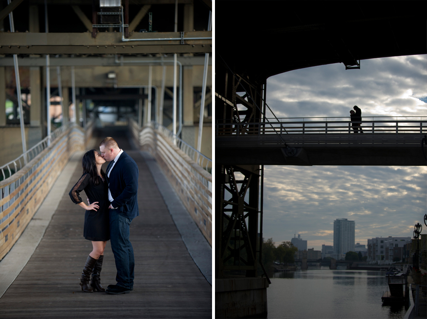 4b2 Engagement Photos Milwaukee   Lakefront Brewery and River   Shannon and John