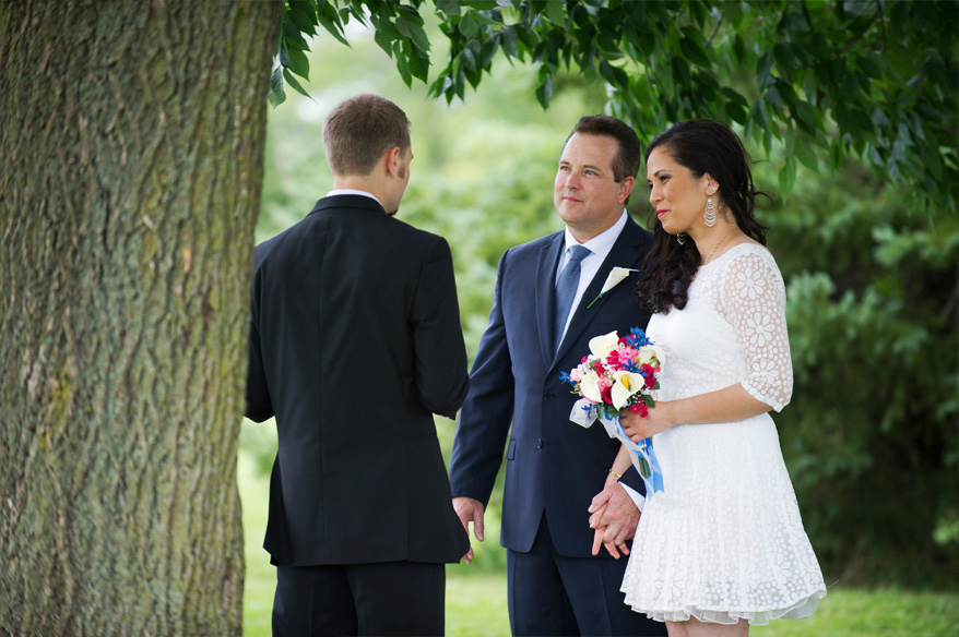 91 Milwaukee Small Lake Front Park Wedding   Non Traditional   Rose and Mike