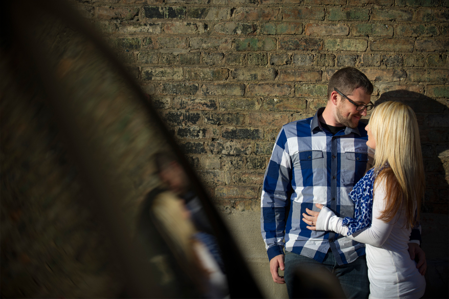 52 Engagement Photos in Third Ward Milwaukee Downtown   Ashley and Sam